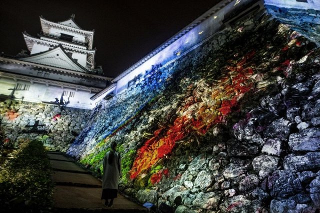teamLab: Digitized Kochi Castle opens Friday, November 8th. Kochi Castle, one of Japan's three best castles as seen at night, will be transformed into an interactive digital art space.