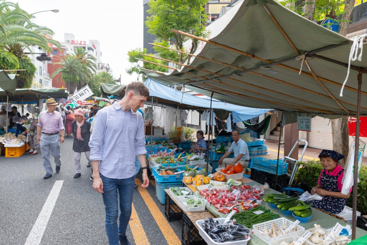 The oldest and largest sunday market in Japan